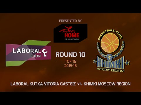 Highlights: Top 16, Round 10, Laboral Kutxa 98-83 Khimki Moscow Region