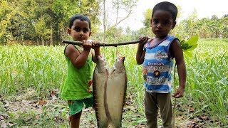 Clown Knifefish Cooking By 3 Years Kids - Cute Baby Sneyha's Cooking Show - Tasty Knifefish Curry