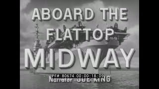 AIRCRAFT CARRIER USS MIDWAY  - CARIBBEAN CRUISE WWII / KOREA  FLATTOP MIDWAY 80674