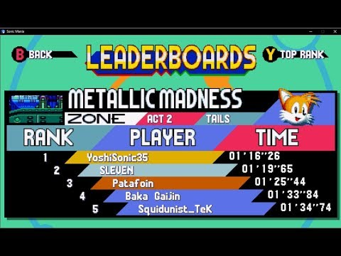 Can we get a friends list leaderboard? :: Sonic Mania