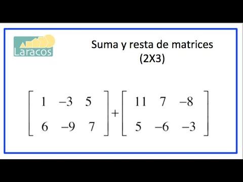 Suma y resta de matrices (2X3)