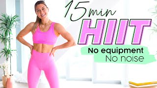 15 MIN HOME HIIT WORKOUT // No Equipment, No Noise, No Impact