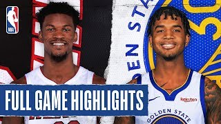 HEAT at WARRIORS   FULL GAME HIGHLIGHTS   February 10, 2020  The Miami Heat defeated the Golden State Warriors, 113-101. Jimmy Butler recorded 21 PTS, 10 REB and 5 AST for the Heat, while Jae Crowder added 21 PTS in the victory. Damion Lee tallied a career-high 26 PTS for the Warriors.  Catch Tuesday's action on TNT: L.A. Clippers at Philadelphia 76ers, 7:00 pm/et & Boston Celtics at Houston Rockets, 9:30 pm/et  Subscribe to the NBA: https://on.nba.com/2JX5gSN   Full Game Highlights Playlist: https://on.nba.com/2rjGMge  For news, stories, highlights and more, go to our official website at https://nba_webonly.app.link/nbasite  Get NBA LEAGUE PASS: https://nba.app.link/nbaleaguepass5