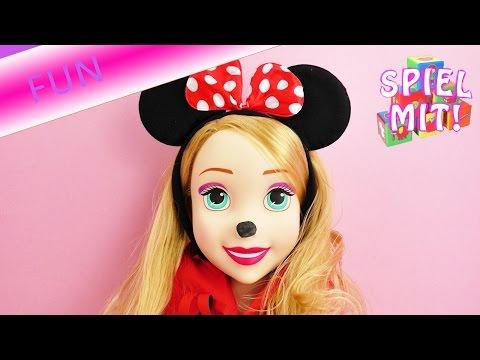 Rapunzel verkleidet sich als Minnie Mouse, Minnie Mouse Haarreifen | Disney Verkleidung Perücke