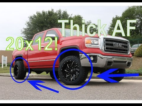 How do they fit? Leveled GMC Sierra with 20x12 on 33s