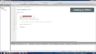 Download Youtube: C++ Programming Tutorials: 14 - Arrays (Declaring and Initializing)