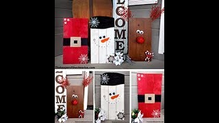 EASY CHRISTMAS WOOD PALLET DECORATIONS