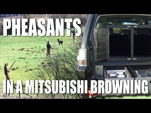 Pheasant shooting in a Mitsubishi Browning