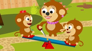 Monkey Mommy Fixes Broken Swing
