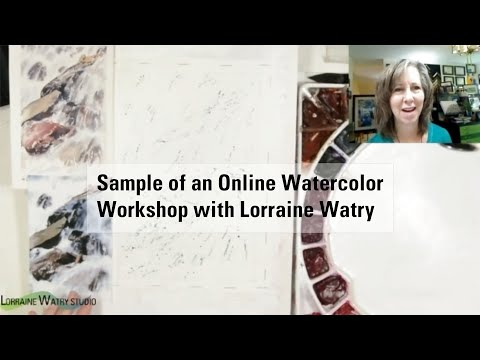 Online Watercolor Class Example with Lorraine Watry