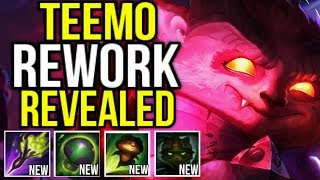 WTF!?! NEW TEEMO REWORK  REVEALED!! (ALL SPELLS CHANGED) MOVE WHILE INVIS NOW!! - League of Legends