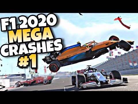 F1 2020 MEGA CRASHES #1