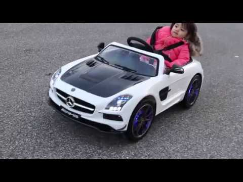 2018 SUPER FAST Moderno Kids Mercedes SLS AMG 12V Electric Ride-On Car Toy Review for Kids