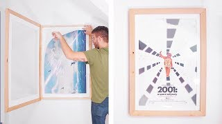 DIY Swing-Open Poster Frame | how to build a picture frame