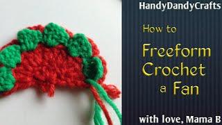 Freeform Crocheted Fan