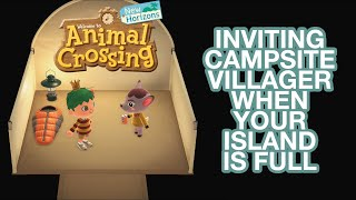 How to Invite Campsite Villager When Full: ACNH Gameplay