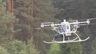 Тяжелый коптер Командор - испытания на низких высотах