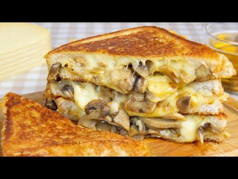 Sandwich de Champiñones, Cebolla y Queso Gouda | Recetas de Sandwiches