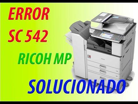 ERROR SC 542 - RICOH MP 5000 - 5002