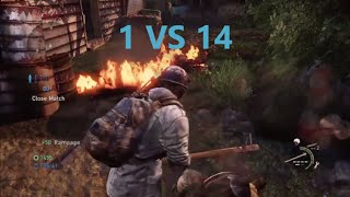 1 vs 14 Comeback - The Last of Us: Remastered Multiplayer (Water Tower)