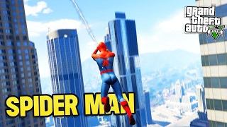 GTA 5 SPIDER MAN WEB SWING! (GTA 5 Mods)