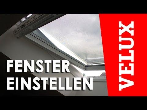 VELUX Fenster einstellen (GPU/GPL)