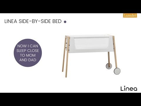 linea by leander side by side co sleeper cradle beech