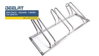 Bike Rack – Square - 3 Bikes – 3.9' Length
