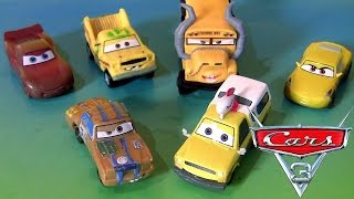 Disney Pixar Cars 3 Playset 6 Pack Plastic Toys for Kids from Cars 3 Movie T-Bone Taco Fritter