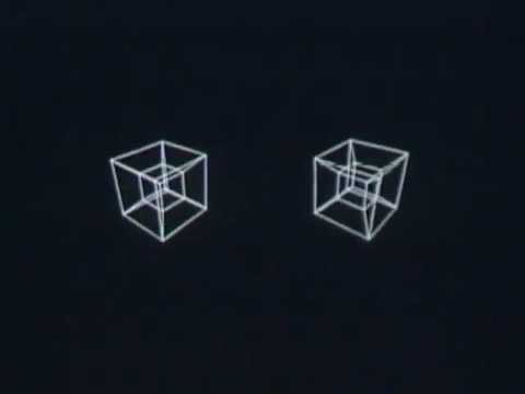 This Is A 3D Computer Animation Of 4D Shapes From 1965