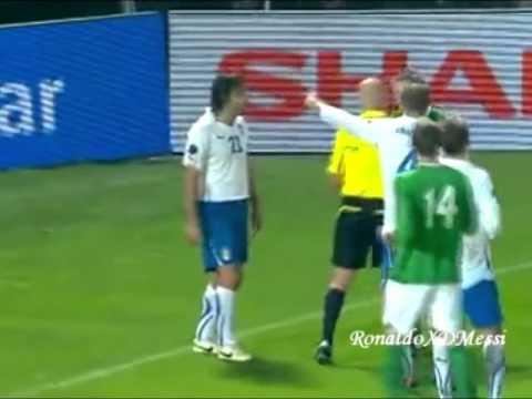 Corner Kick FAIL - Italy vs Northern Ireland  08/10/2010