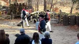 preview picture of video 'Yorktown Victory Center, Virginia .. Artillary Demonstration'