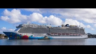 preview picture of video 'NCL - Norwegian Breakaway Arrival Port Castries, St.Lucia'
