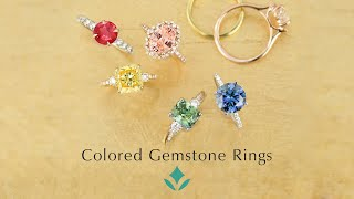Discover Colored Gemstone Engagement Rings