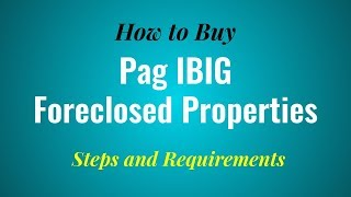 How to Buy Pag IBIG Foreclosed Properties