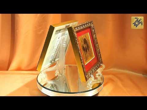 Подарок знак Зодиака ЛЕВ - картина на сусальном золоте