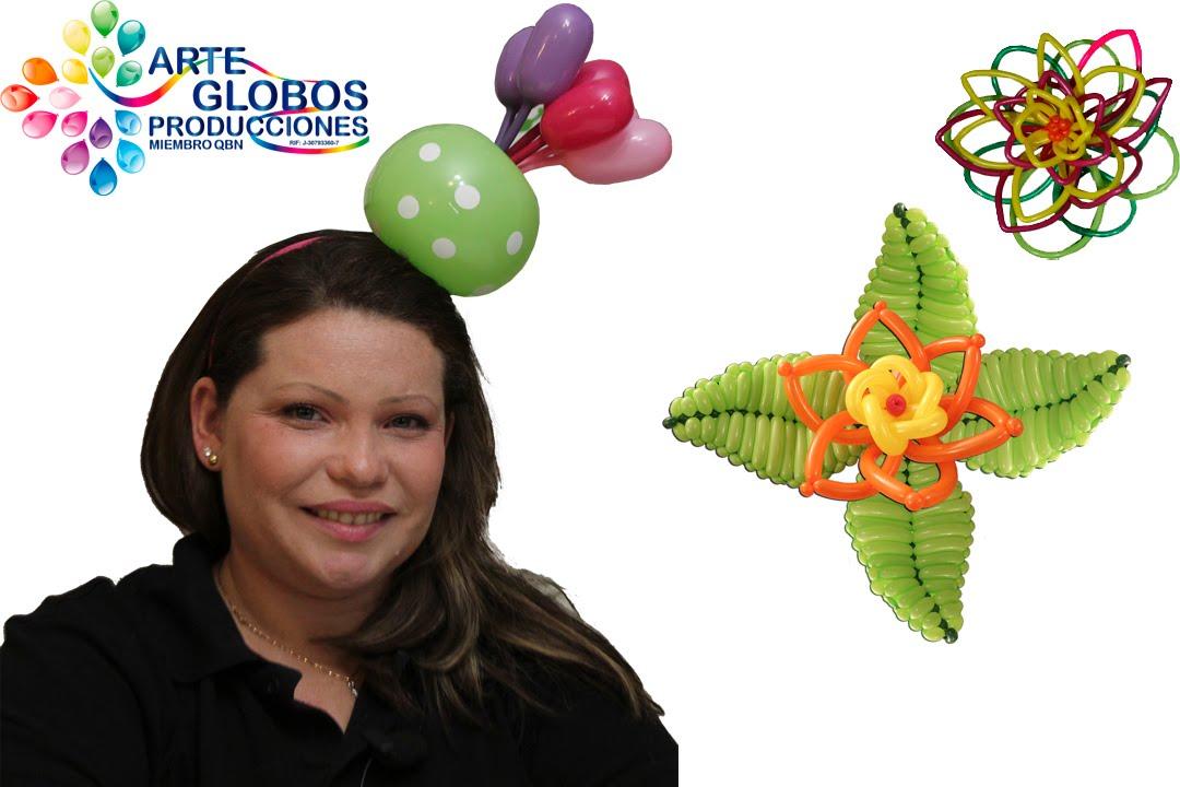 Cintillo o Bincha Flor Alegria. Curso de Globos