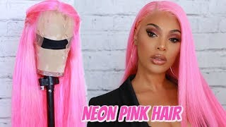 LETS MAKE A WIG | NEON PINK HAIR