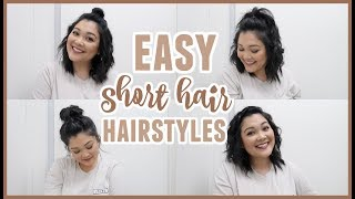 EASY Short Hair Hairstyles // Especially For Layered Hair