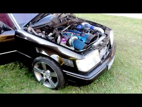 Mercedes W124 M104 Turbo - Small test run - смотреть онлайн на Hah Life