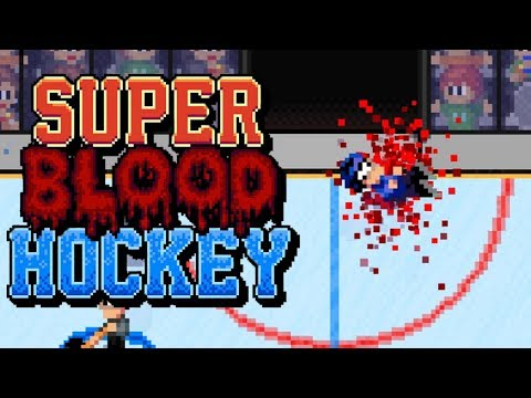 SUPER BLOOD HOCKEY   HE'S LITERALLY BLEEDING OUT