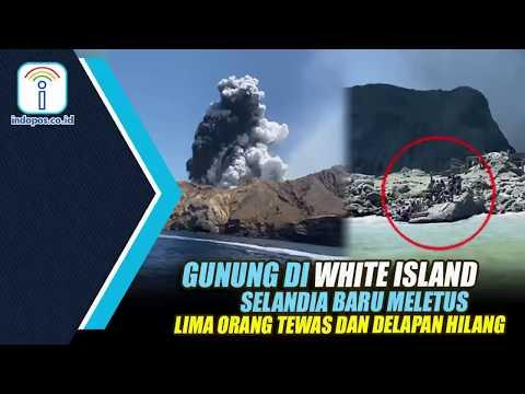 GUNUNG DI WHITE ISLAND SELANDIA BARU MELETUS, LIMA ORANG TEWAS DAN DELAPAN HILANG