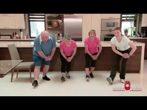 En forme chez soi 1 – Exercices pour personnes diabétiques