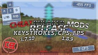 [1.7.10/1.8.9] CheatBreaker Mods for Forge (Keystrokes, CPS, FPS)