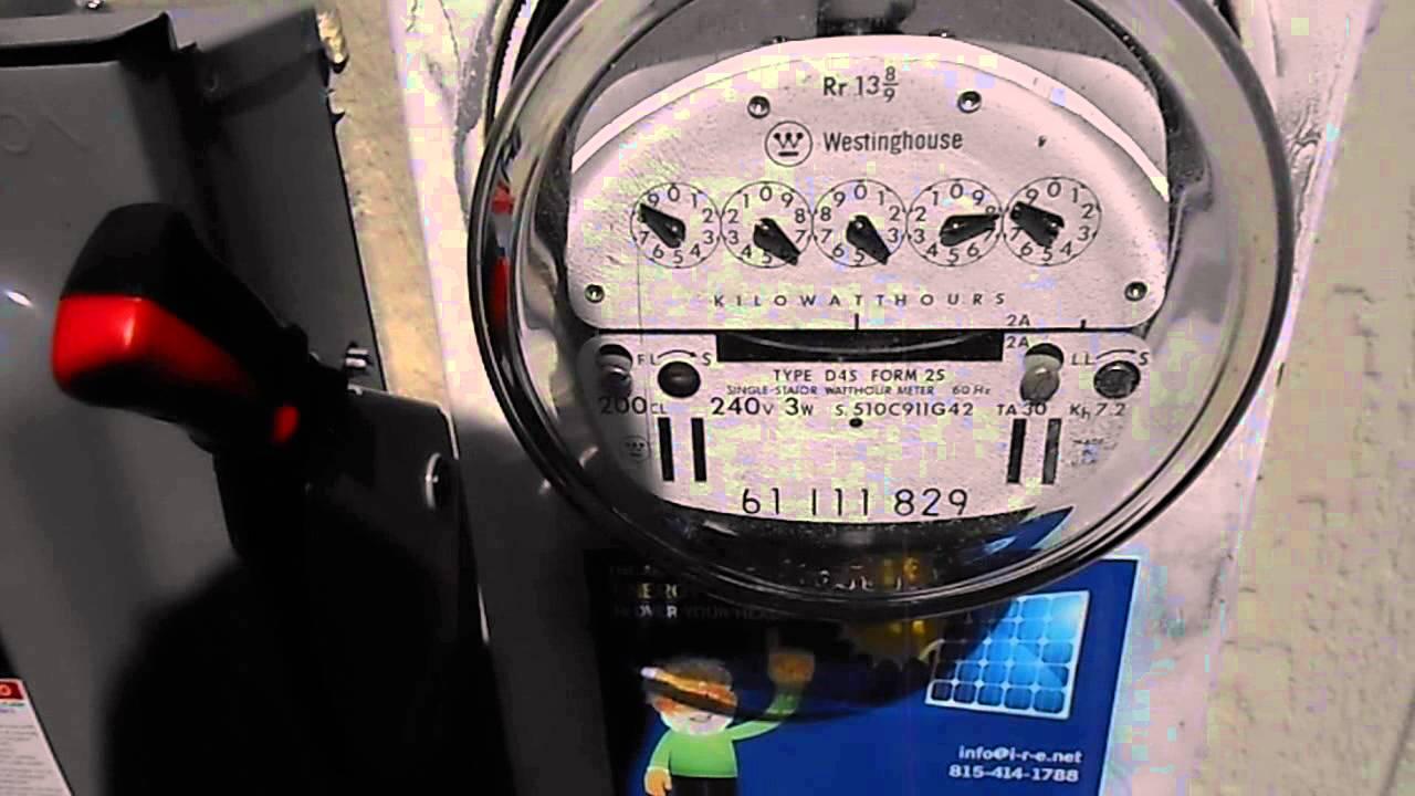 Meter runs backwards with solar