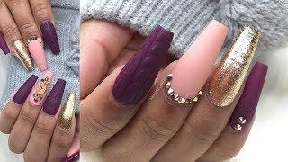 Gel-X Fullset Perfect Purple Fall Nail Designs