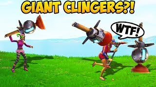 HOW TO THROW GIANT CLINGERS! - Fortnite Funny Fails and WTF Moments! #262 (Daily Moments)