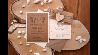 Romantic Rustic Wedding Invitation