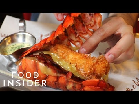 Cheese & Bacon Burger with Lobster Buns
