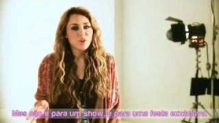 Promo de Miley au Brésil avec Sym